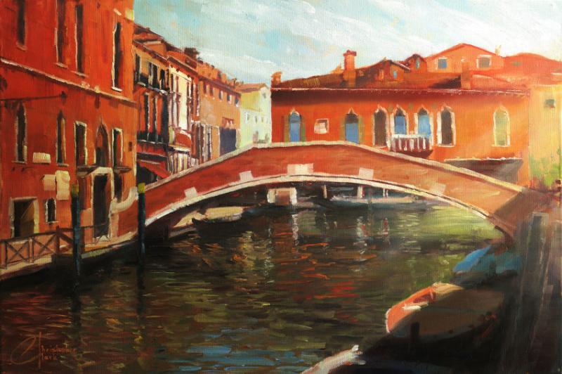 Acrylic Painting: Venice Scene