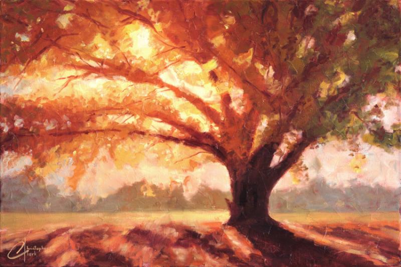 Autumn Scene Acrylic Painting